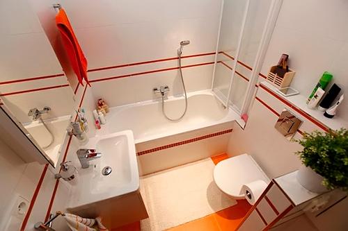 Оригинальный дизайн маленькой ванной комнаты