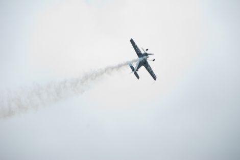 Высший пилотаж над Ригой в честь Дня города