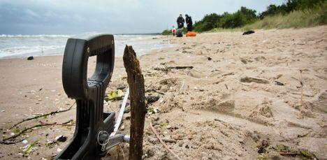 Опасность на Латвийском пляже.