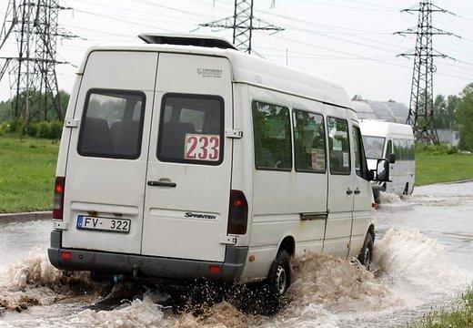Аварийно опасный район в Риге на пересечение Озолциема и Валдекю