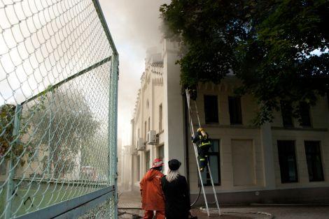 Пожар на Rigas Udens в центре Риги - дополнено