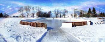 В Риге начали работать бесплатные катки и лыжные трассы