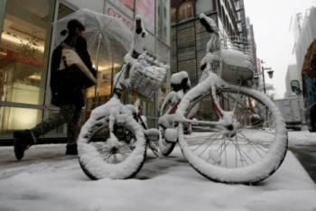 По всей территории Латвии в ночь на 25 декабря прошли сильные снегопады