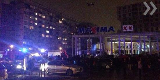 В торговом центре Maxima обрушение крыши