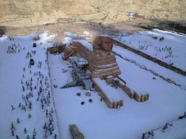 В Египте выпал нежданный первый снег
