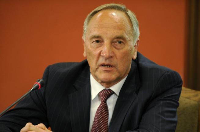 Выступление президента Латвии Андриса Берзиньша.