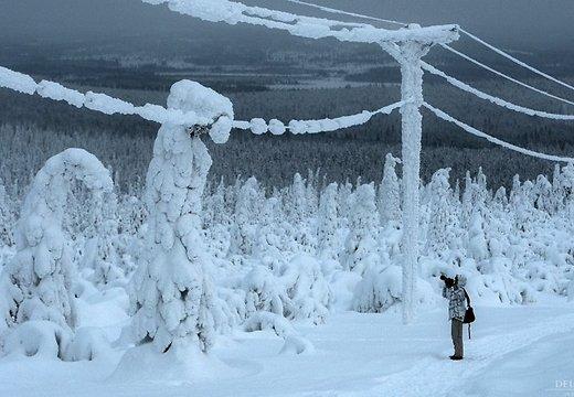 В Латвии слишком много снега