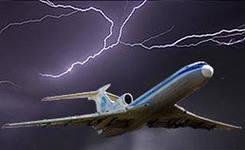 Самолет при посадке сдуло ветром