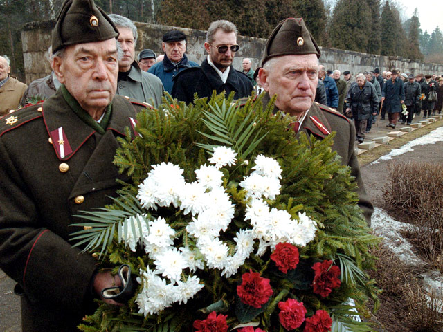 В Риге прошло ежегодное шествие бывших легионеров SS и их сторонников