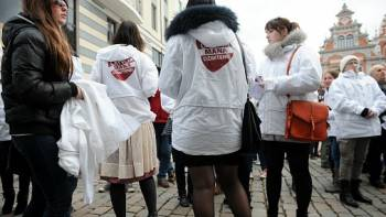 В Риге прошло запланированное мероприятие флеш-моб «Латвия - моя родина»
